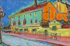Kirchner, Ernst Ludwig  German, 1880 - 1938  Dance Hall Bellevue [recto] 1909/1910