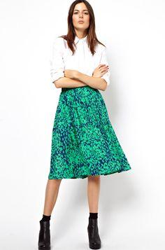10 Stylish Midi Skirts: Midi Skirt from ASOS.