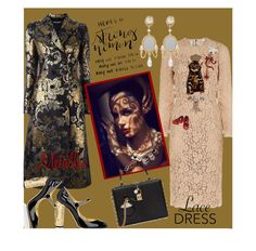 """""""Dolce Vita: Love My Metallic"""" by vittorio-1 ❤ liked on Polyvore featuring Dolce&Gabbana"""