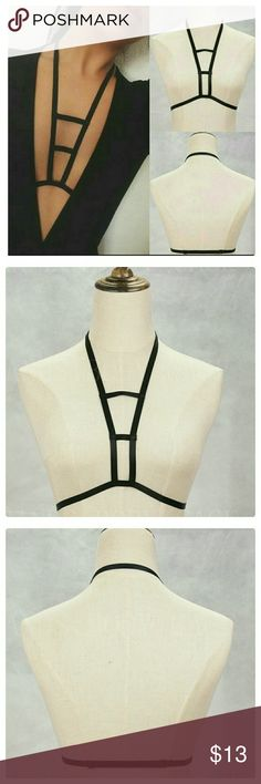 "JUST IN: Sexy Harness Bra (#2) NWOT Material: Spandex.  Size is adjustable. OSFM. Under Bust: 27"" to 43"". Intimates & Sleepwear Bras"