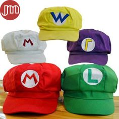 Find More Movies   TV Information about New 1 PCS Super Mario Bros Luigi  Cosplay Hat Baseball Cap Anime Gifts for Adults Red Green White Purple  Yellow 804fec0f2e7a