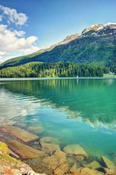 lake st. moritz@ sankt moritz, graubünden, schweiz