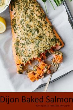 This Dijon baked salmon is one of my favorite easy salmon recipes. It's incredibly flavorful and the dijon topping keeps the salmon moist, light and flaky. Coho Salmon Recipe, Sockeye Salmon Recipes, Canned Salmon Recipes, Easy Salmon Recipes, Fish Recipes, Baking Recipes, Chicken Recipes, Healthy Recipes, Mustard Salmon