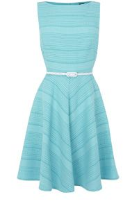 COTTON STRIPE FIT AND FLARE DR