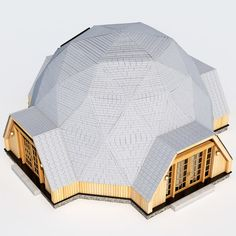 Geodesic Dome House Model available on Turbo Squid, the world's leading provider of digital models for visualization, films, television, and games. Great Buildings And Structures, Modern Buildings, House 3d Model, Geodesic Dome Homes, Earthship Home, House Template, Dubai Skyscraper, Dome House, Social Housing