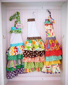 ruffled aprons