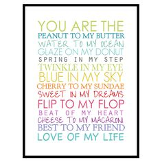 You Are the Framed Print <3