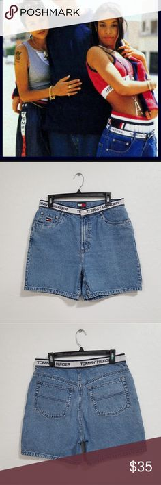 """90s Tommy Hilfiger Sz 14 Vintage Mom Shorts Vintage Tommy Hilfiger Mom Shorts  - Good Condition - Original 90's Vintage  - Tommy Hilfiger Waistline  - Size 14 (30 inches) - Total Length 18""""  Any questions feel free to ask   Thank you Tommy Hilfiger Shorts Jean Shorts"""