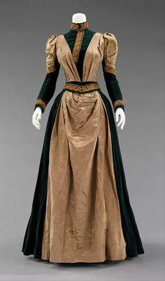 1880s Fashion, Edwardian Fashion, Vintage Fashion, Gothic Fashion, Antique Clothing, Historical Clothing, Historical Dress, Historical Costume, Vintage Gowns
