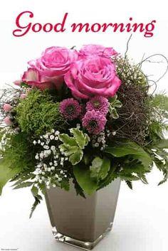 Hd vase flowers good morning.