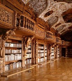 Library in the Monastery of Waldsassen, Germany