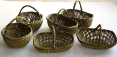 Now in olive too! Baskets of ... three different 1/12th scale dolls house baskets to choose from