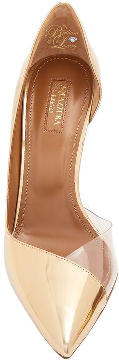 Brilliant Luxury ♦ Aquazzura Eclipse point-toe leather pump