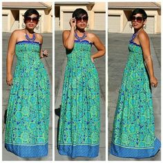 Maxi print sleeveless dress
