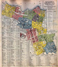 burada istanbul var: Pervititch Haritaları: Tarihi Yarımada Bölümü