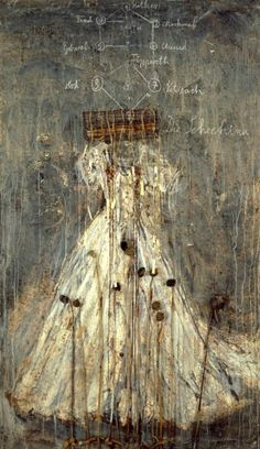 "Anselm Kiefer (Germany, b. 1945) ""Schechina"", 1999 Oil, emulsion, acrylic, lead…"