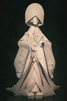 Paper fashion by Asya Kozina - Art Kaleidoscope Kirigami, Origami Paper Art, Paper Crafts, Book Sculpture, Paper Sculptures, Art Du Monde, Paper Clothes, Paper Fashion, Art Original