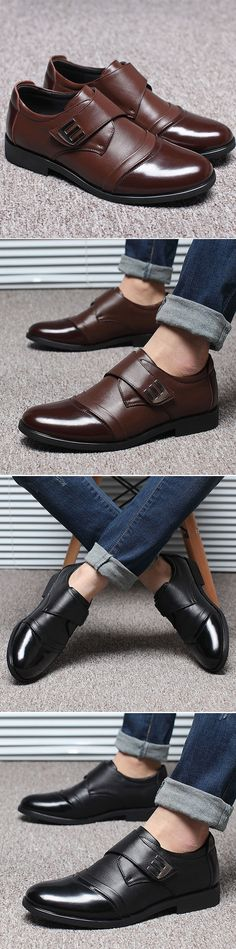 Men Classic Color Blocking Hook-Loop Business Casual Leather Shoes http://www.99wtf.net/men/mens-fasion/latest-mens-fashion-trends-2016/