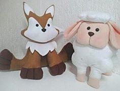 Ovelha e raposa inspiradas em outras artesãs