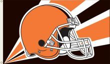 Cleveland Browns NFL Team Logo 3' x 5' Flag w/Grommetts