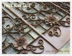 """You will never guess what this beautiful """"iron"""" gate is made from!"""