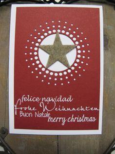 .: Weihnachtskarte mit meinem eigenen Stempel