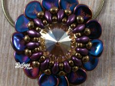 TUTORIAL of the rose petal flower pendant phase by BelugaBeads