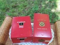 Cigar Box Pair Brick Red Punch Corojo Slide by IndustrialPlanet, $18.20