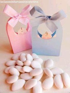 más y más manualidades: Souvenirs con dulces para un baby shower