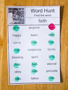 Fun printable General Conference word hunt worksheets that are perfect for preschoolers. Also an engaging activity to keep toddlers busy.