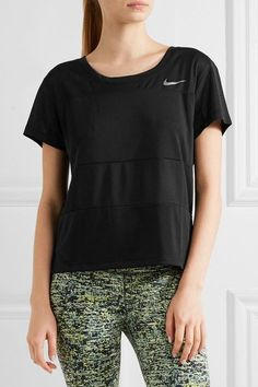 Nike - Paneled Dri-fit Stretch-jersey T-shirt - Black