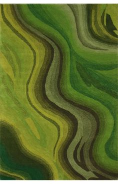 Rugs USA Couture Colorful Waves Green Multi Rug