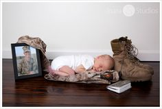 This is absolutely hearbreaking.  Baby was born weeks after his father was killed in combat but these pictures are absolutely beautiful