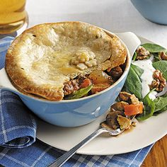 Beef Pot Pies with Spring Vegetables | Cuisine at home eRecipes