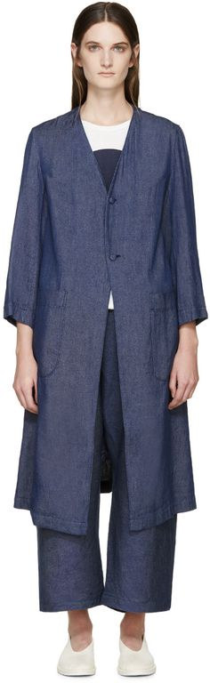 Blue Blue Japan - Blue Lightweight Chambray Coat