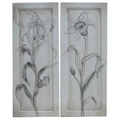 love these door panels...simple but lovely