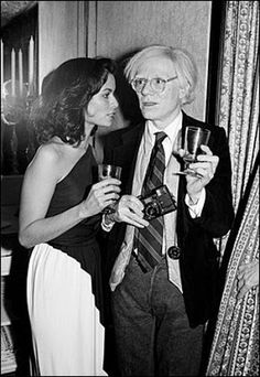 Bianca Jagger and artist Andy Warhol.  Image via AP