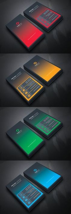Business Card Templates Source by Corporate Design, Business Design, Creative Business, Elegant Business Cards, Professional Business Cards, Flyer Inspiration, Graphisches Design, Design Cars, Book Design