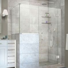 DreamLine Unidoor-X 60 in. W x 36.375 in. D x 72 in. H Hinged Shower Enclosure (34 in. Buttress Panel Height; Chrome)