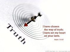 Inspirational illustration of Psalm 119:30  7/21/14