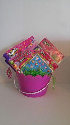 Shopkins Easter Basket Rare EXCLUSIVE BASKET Drawing Pad Stickers Marker Fun Set #FavoriteShopkins