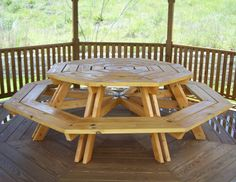 DIY Eight Seater Octagonal Picnic Table Plans l Build Easy Plans