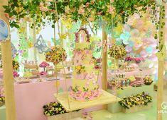 No hay descripción de la foto disponible. Princess Theme, Princess Birthday, Bird Party, Butterfly Decorations, Baby Shower, Ideas Para Fiestas, Girl Decor, Garden Theme, Time To Celebrate