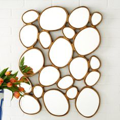 Tozai Home Free Form Mirror. Who says life is all about straight lines and perfect measurements? With the Tozai free form mirror, go against the norm in style. River Stones, Stepping Stones, Shops, Fancy, Dot And Bo, Home Decor Accessories, Decorative Accessories, Home Accents, My Dream Home