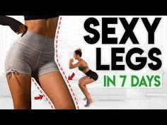 Sexy nohy za 7 dní (stráca tuk) 8 minútové cvičenie - YouTube 8 Minute Workout, Gym Workout Tips, Toning Workouts, Butt Workout, At Home Workouts, Cellulite Exercises, Thigh Exercises, Leg Challenge, Toned Legs Workout