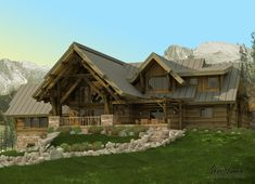 Five Timber Frame Mountain Homes You'll Dream About - Woodhouse The Timber Frame Company Timber Frame Home Plans, Cabin Floor Plans, Timber Frame Homes, Modern Barn House, Rustic House Plans, Contemporary House Plans, Mountain House Plans, Mountain Homes, Cabin Homes