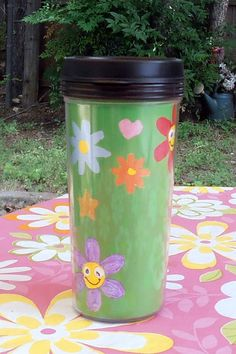 Spring Green 16oz Travel  Mug by InspriationWorkshop on Etsy, $10.00