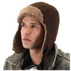 Join the retro-future world of Steampunk, with this Lined Aviator Hat! Inspired by a melding of Victorian-era Britain and the fantastical designs of authors like H.G. Wells and Jules Verne, this is the lined aviator cap worn by World War I American pilots. The perfect addition to your steampunk costume! One size fits most adults. Ages 14 and up.