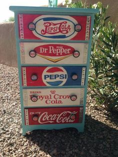 Hand Painted Soft Drink Dresser