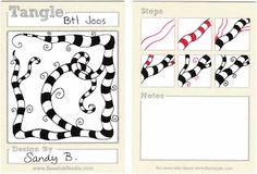 "#Zentangle Pattern ""Btl Joos"" by Sandy Steen Bartholomew #braid"